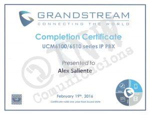 certificacion grandstream