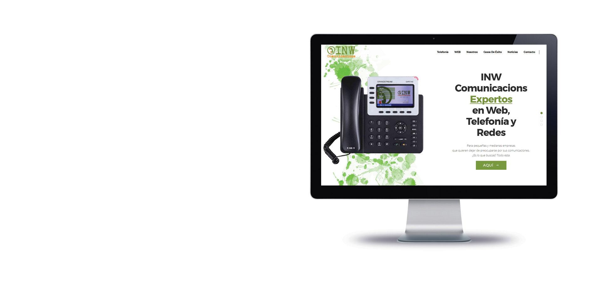 Web<br>Telefonía<br>Redes